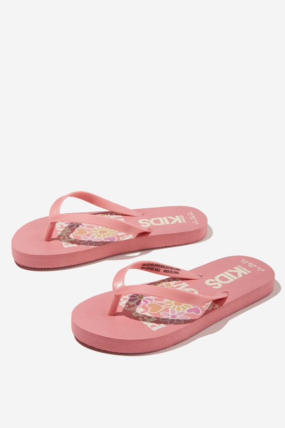 Printed Flip Flop, PEACE AND LOVE