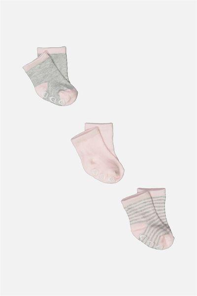 3 Pack Baby Socks, PINK