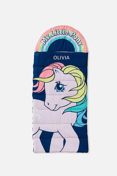 Personalised Kids Novelty Sleeping Bag, LCN MY LITTLE PONY