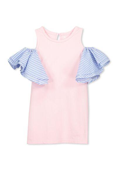 Matilda Frill Dress, PASTEL PINK/STRIPE