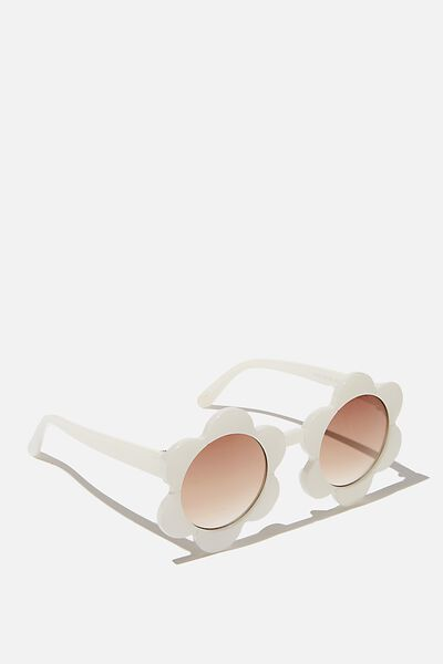 Kids Retro Sunglasses, MILKY WHITE FLOWER