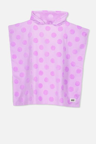 Kids Hooded Towel, LILAC SPOT