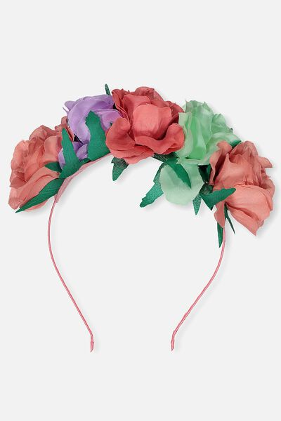 Floral Garland Headband, MULTICOLOURED