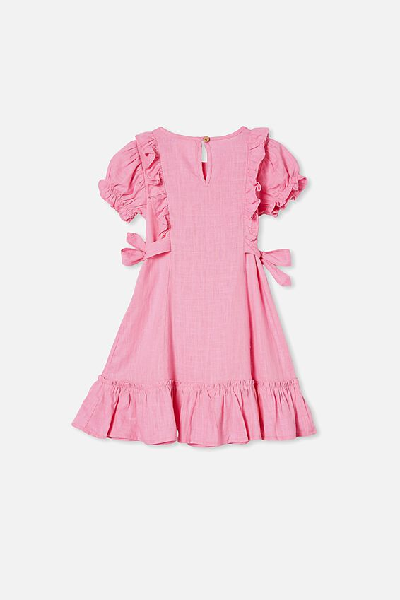 Beattie Short Sleeve Dress, PINK PUNCH