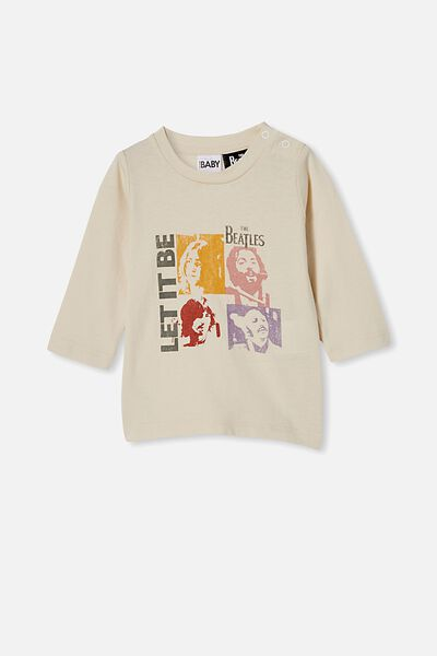 Jamie Long Sleeve Tee-Lcn, LCN APP DARK VANILLA/BEATLES LET IT BE