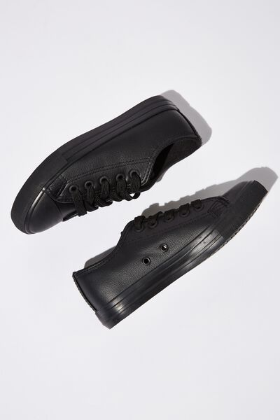 Classic Trainer Lace Up, BLACK CLEAN