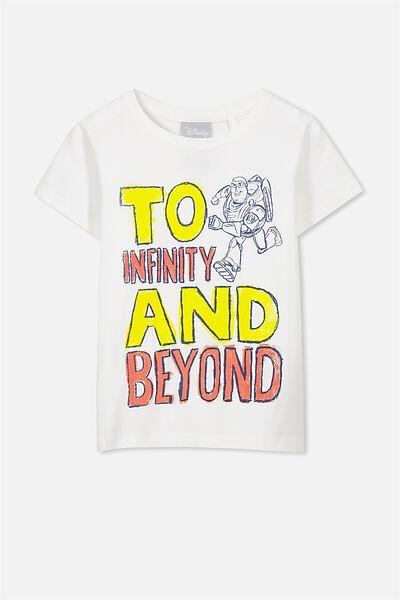 Short Sleeve Licence1 Tee, VANILLA/TO INFINITY AND BEYOND