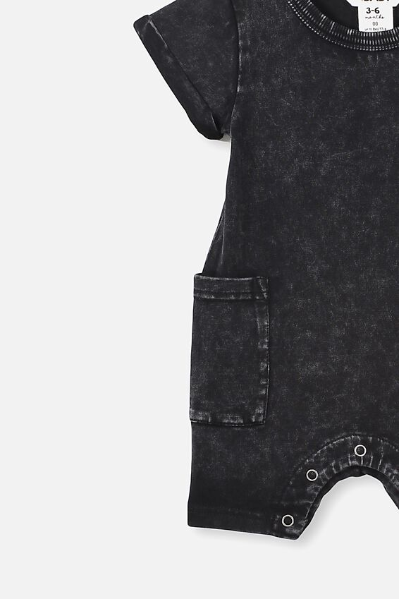 Alby Playsuit, BLACK
