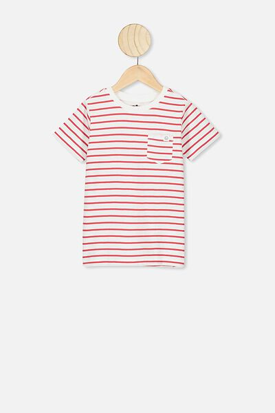 Core Short Sleeve Tee, WHITE/LUCKY RED YDS