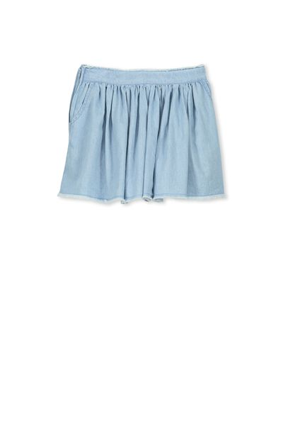 Umi Skirt, BLEACH WASH #1