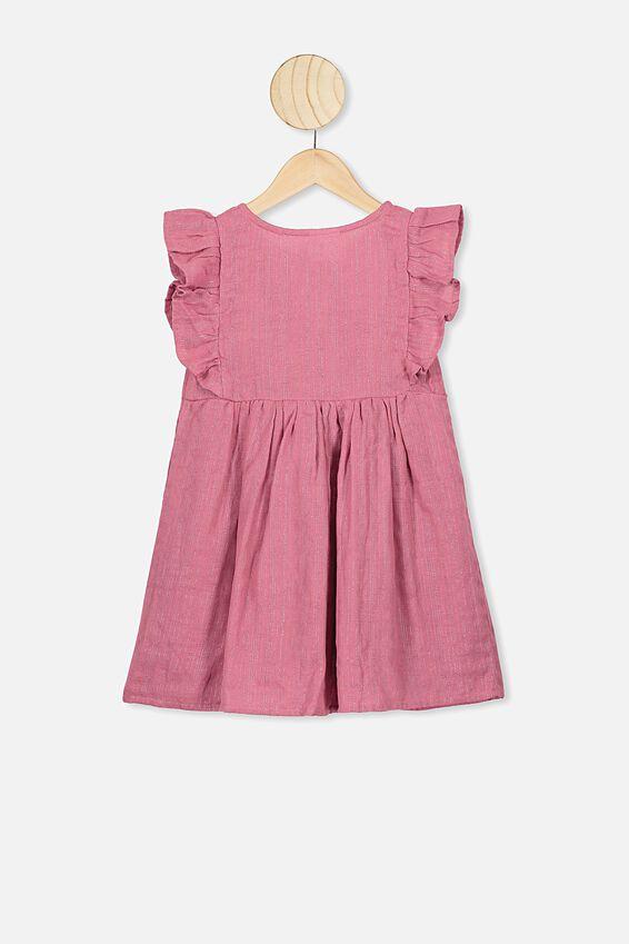 Goldie Sleeveless Dress, VERY BERRY/PINK SPARKLE STRIPE