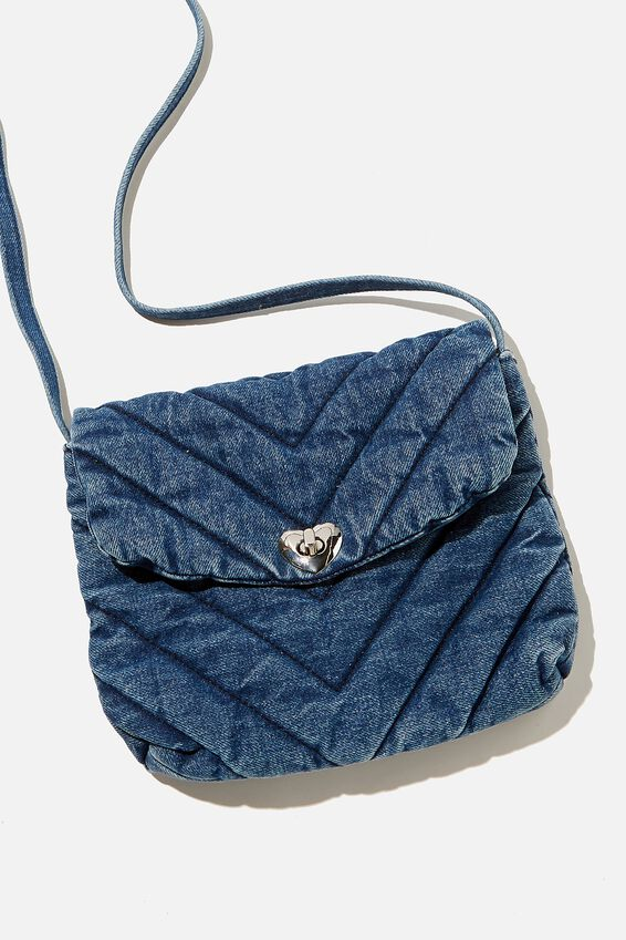 Chambray Quilted Meghan Bag, CHAMBRAY QUILTING