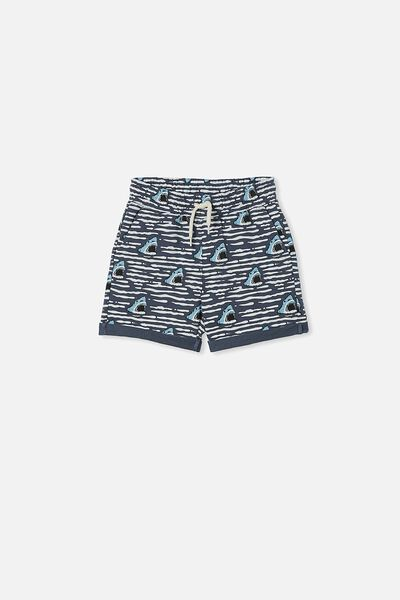 Henry Slouch Short 60/40, VINTAGE NAVY/SHARK WAVE