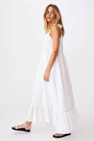 Mama Amy Sleeveless Dress, WHITE
