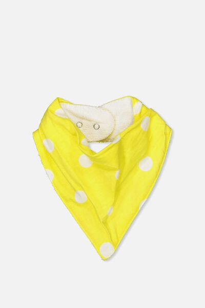 Dribble Bib, LEMON ZEST/SPOT