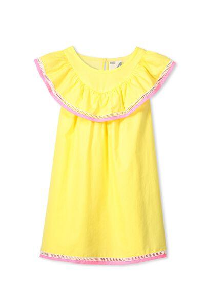 Olivia Dress, LEMON SORBET/COLOUR BLOCK