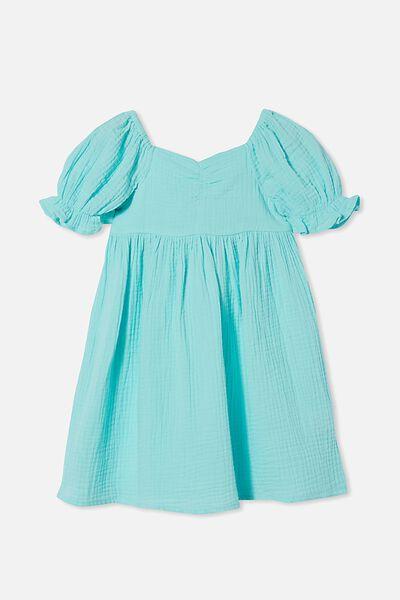 Samantha Short Sleeve Dress, DREAM BLUE