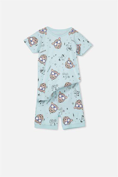 Joshua Short Sleeve Pyjama Set, CLEVER CAT