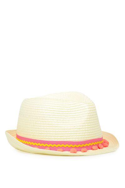 Trilby Hat, FLAMINGO