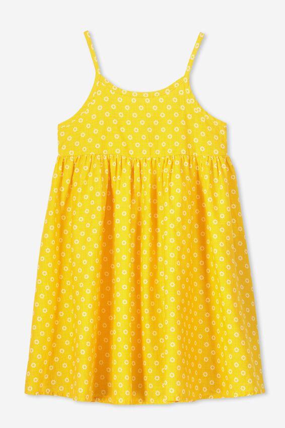 Lizzie Sleeveless Dress, GOLDEN RETRO FLORAL