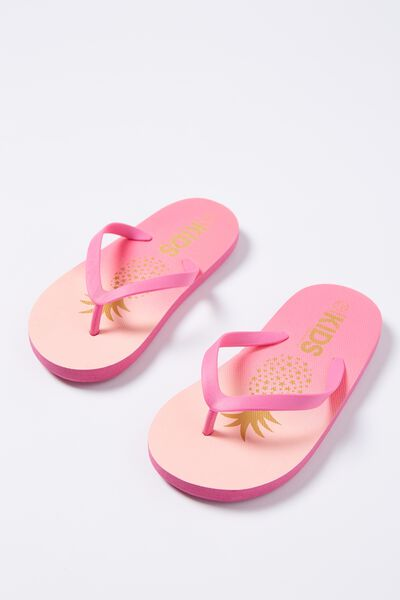Printed Flip Flop, OMBRE PINEAPPLE G