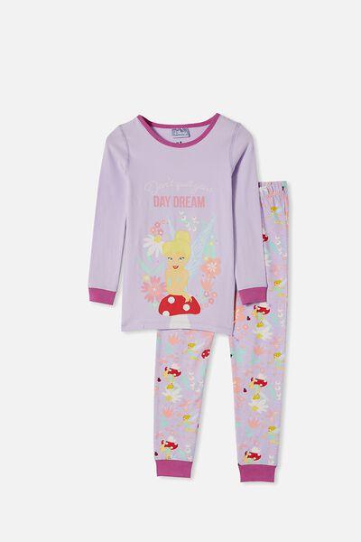 Florence Long Sleeve Pyjama Set, LCN DIS TINKERBELL VINTAGE LILAC