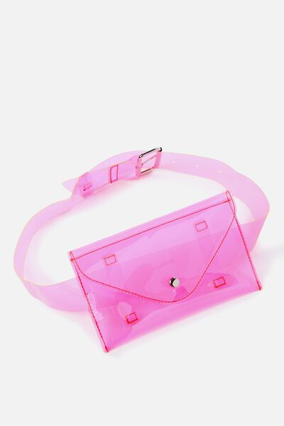 Fashion Belt Bag, IRIDESCENT PINK