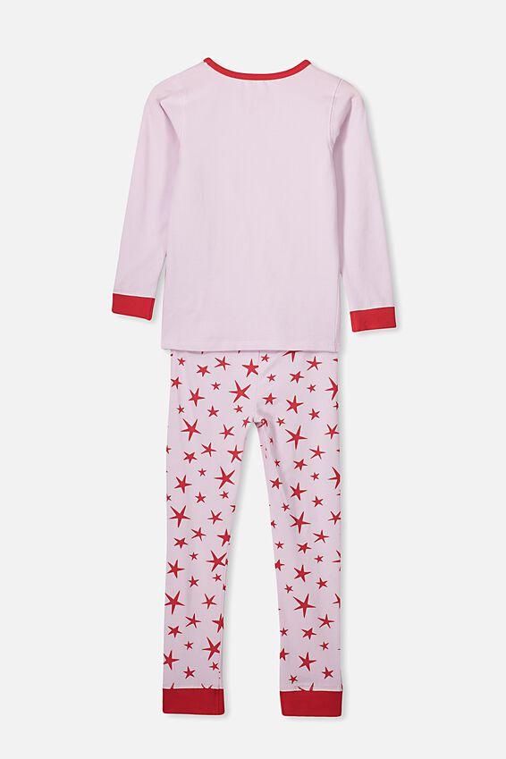 Personalised Ruby Long Sleeve Pyjama Set, XMAS REINDEER STAR