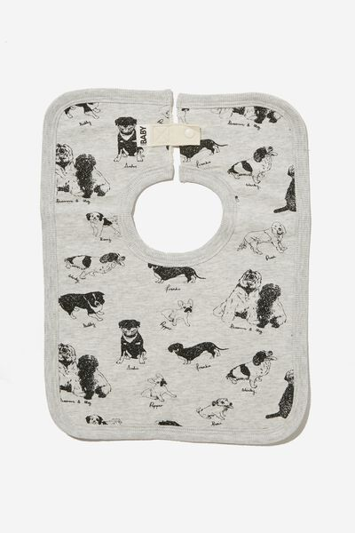 The Square Bib, CLOUD MARLE/PUPPY PARTY