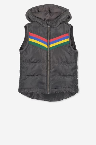 Will Puffer Vest, PHANTOM/STRIPES
