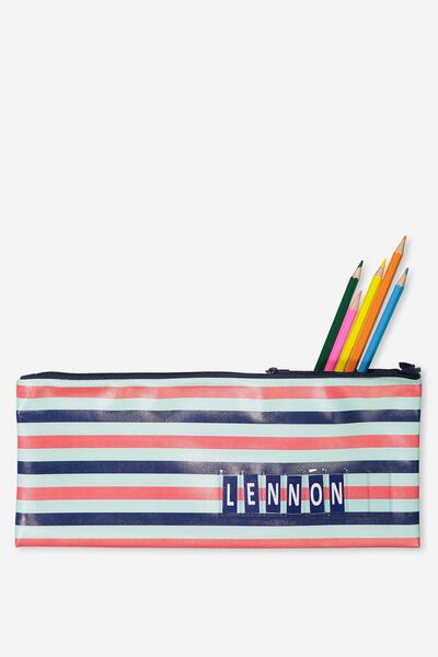 Pencil Case Name It, BLUE STRIPE