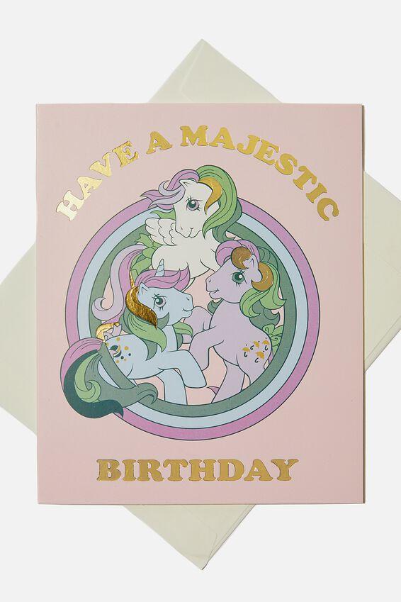 Licensed Birthday Gift Card, LCN HAS MY LITTLE PONY BIRTHDAY