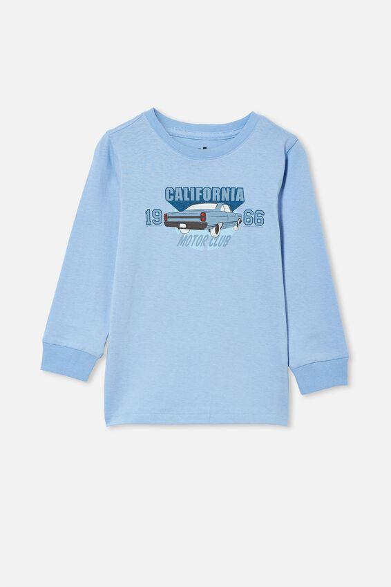 Max Long Sleeve Tee, DUSK BLUE/CAR