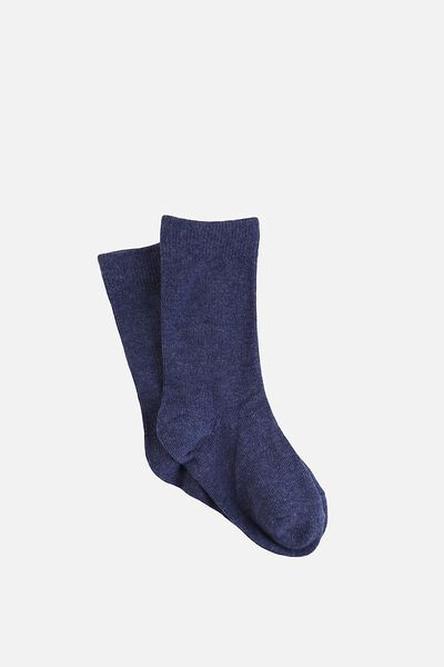 Kooky Socks, OTS - NAVY MARLE