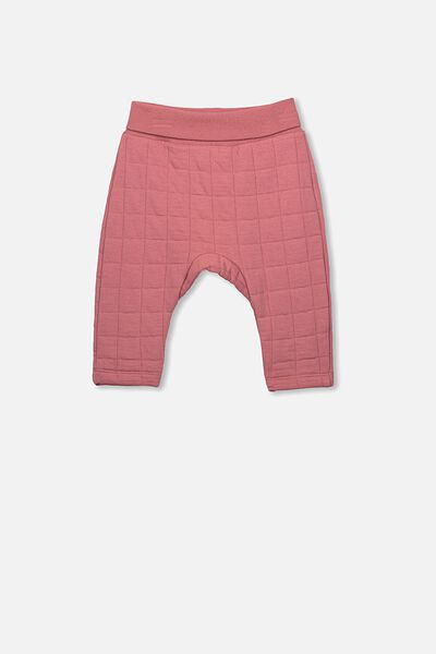 Rory Quilted Trackpant, RUSTY BLUSH