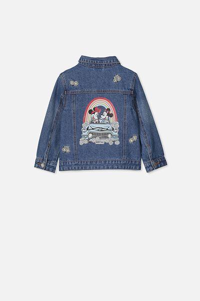 Lux Daisy Denim Jacket, LCN BLUE WASH/MICKEY RAINBOW