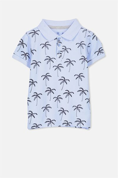 Kenny 3  Polo, BUTTERFLY BLUE/PALMS