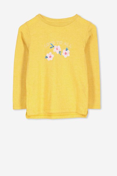 Penelope Long Sleeve Tee, GOLDEN MARLE/LOVE TO ALL/SET IN