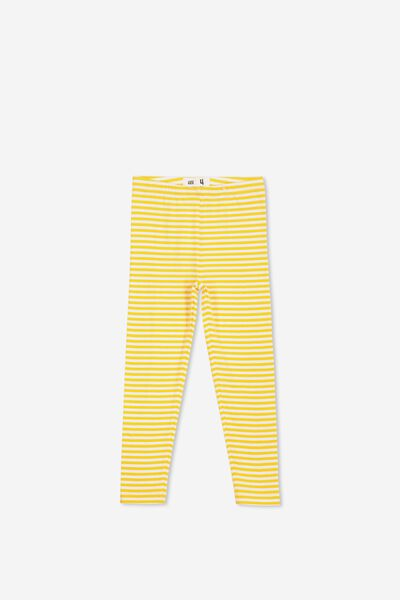 Huggie Tights, WHITE/GOLDEN ROD STRIPE