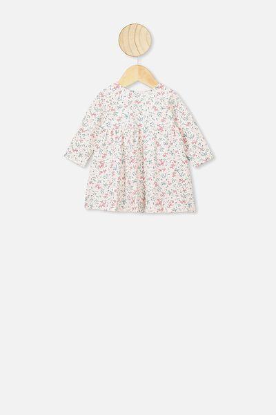 Molly Long Sleeve Dress, DARK VANILLA/MAUDE FLORAL