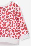 Billie Sweater, WHITE/LOLLIPOP OCELOT