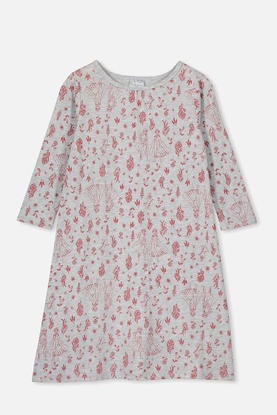 Laura Long Sleeve Long Nightie, LCN DIS FROZEN BOTANICAL