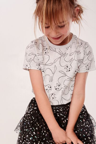 Penelope Short Sleeve Tee, SUMMER GREY MARLE/CAT YARDAGE/MAX