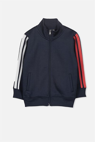 Zeke Zip Thru, WASHED NAVY/STRIPES