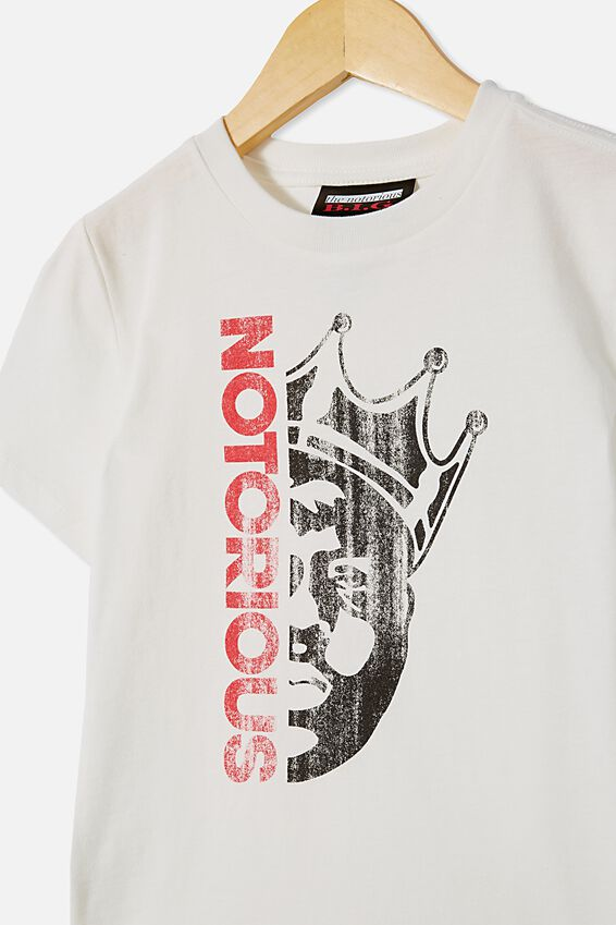 Co-Lab Short Sleeve Tee, LCN MT RETRO WHITE / NOTORIOUS BIGGIE