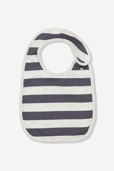 The Baby Bib, CLOUD MARLE/GRAPHITE GREY STRIPE