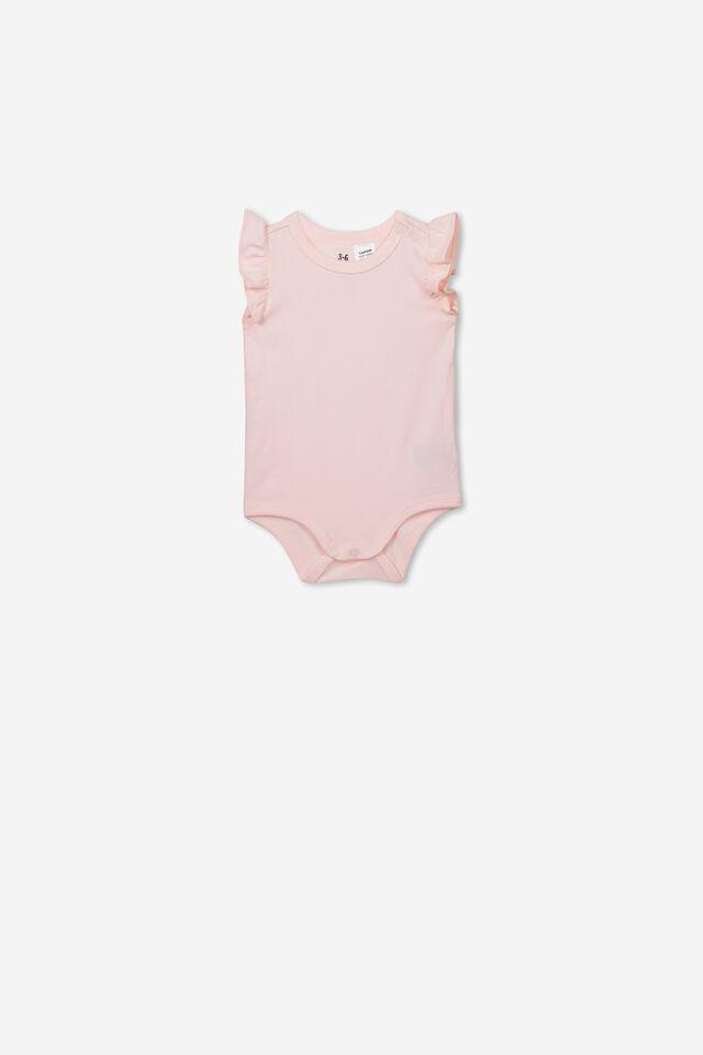 The Sleeveless Ruffle Bubbysuit, CRYSTAL PINK