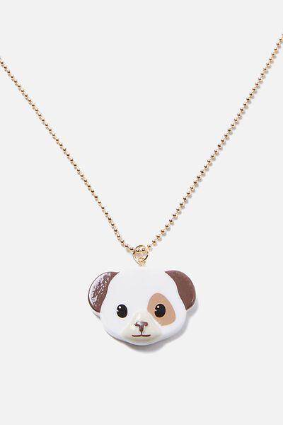 Fashion Pendant Necklace, EMOJI PUPPY