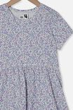 Freya Short Sleeve Dress, VANILLA/BLUE TORQUAY DITSY FLORAL