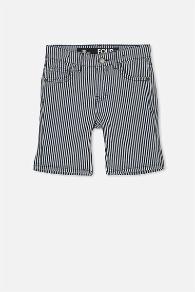 Pacey Denim Short, INDIGO YARN DYED STRIPE
